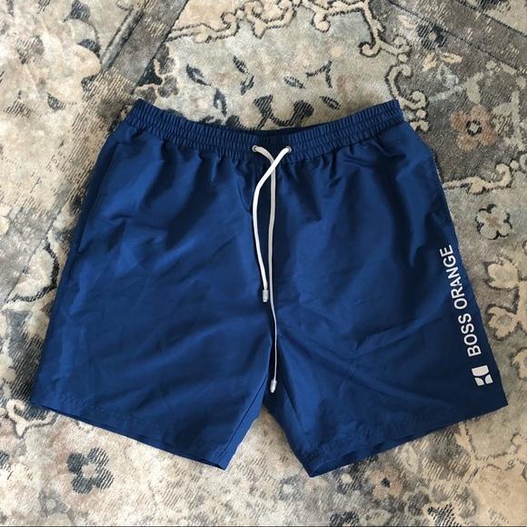 059a4207 BOSS ORANGE Other - Boss Orange (Hugo Boss) Men's Blue Swim Trunks